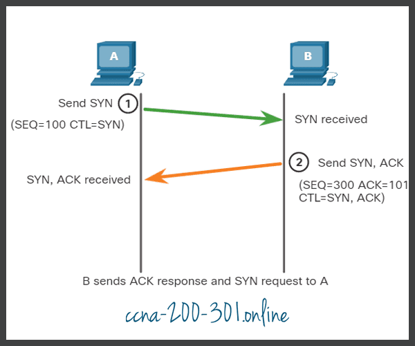 ACK and SYN TCP Connection