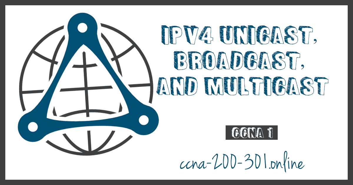 IPv4 Unicast, Broadcast, and Multicast