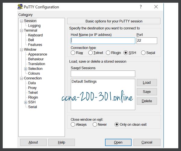 PuTTY Interface