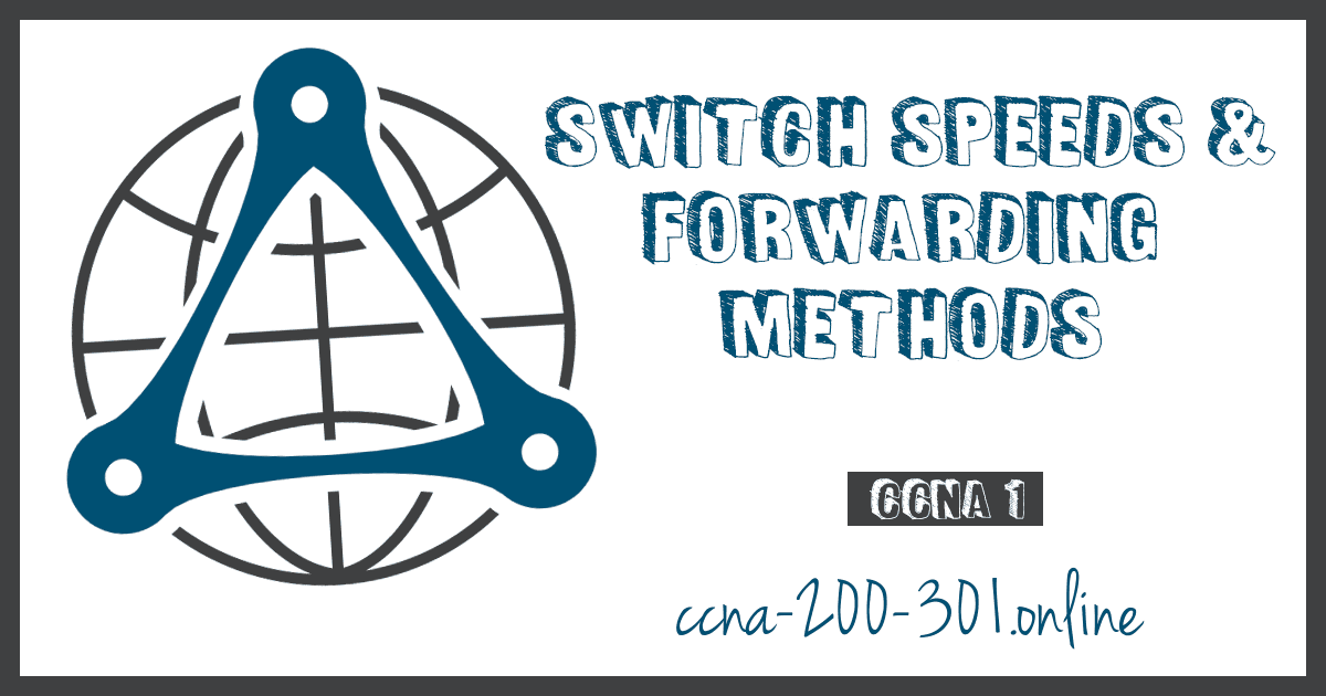 Switch Speeds and Forwarding Methods