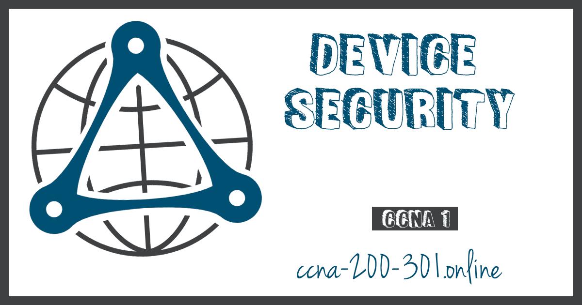 Device Security CCNA