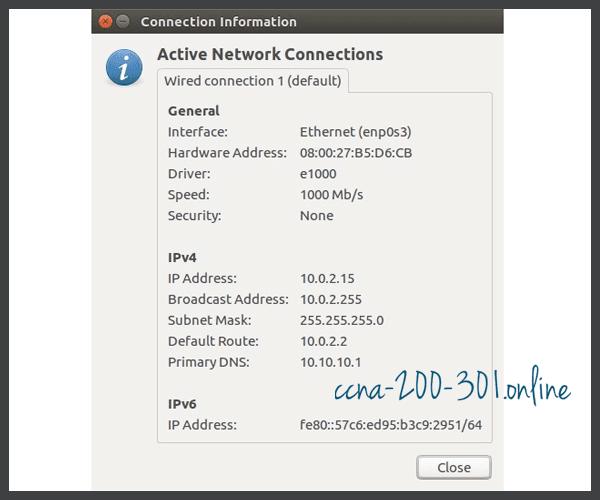 IP Configuration Linux Host