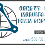 CCNA3 V7 ENSA Modules 6 8 Exam Answers