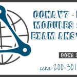 CCNA3 V7 ENSA Modules 9 12 Exam Answers