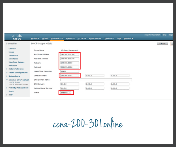 Configure and enable new DHCP scope