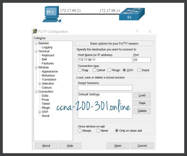 PuTTy settings SSH