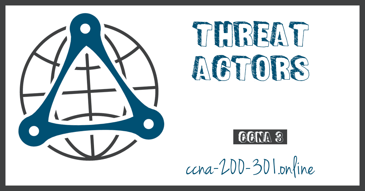 Threat Actors CCNA Security