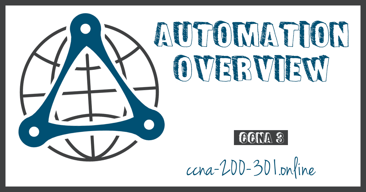Automation Overview CCNA