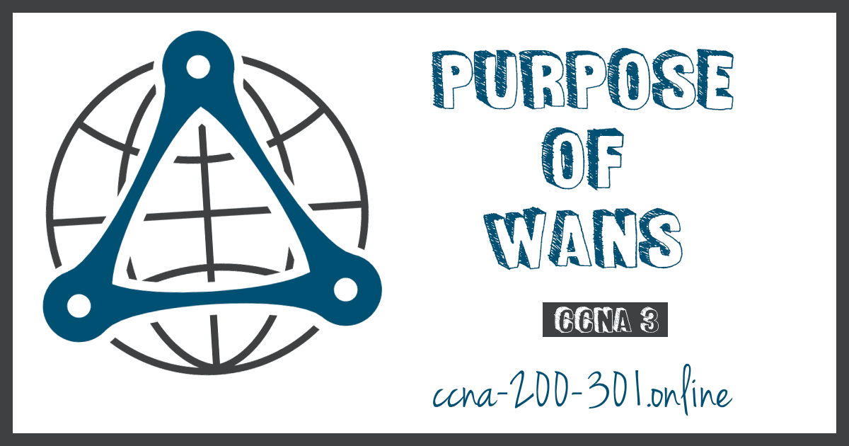 Purpose of WANs CCNA